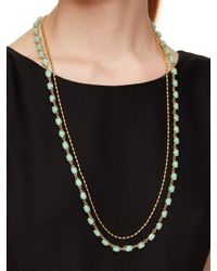 kate spade new york | Blue Seastone Sparkle Long Necklace | Lyst