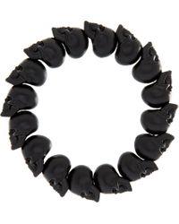 Alexander McQueen | Black Skull Bead Bracelet - For Men for Men | Lyst