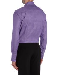 Ted Baker | Purple Pattern Slim Fit Long Sleeve Classic Collar Shirt for Men | Lyst