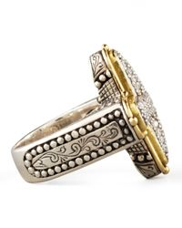 Konstantino | Metallic Classic Diamond Pave Cross Ring | Lyst
