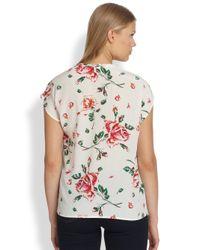 Joie - White Suela Printed Silk Top - Lyst