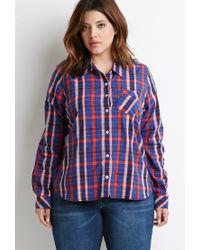 Forever 21 | Blue Plus Size Tartan Plaid Shirt | Lyst
