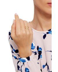 Noor Fares Metallic Gold Geometry 101 Rhombus Pinkie Ring
