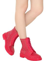 RED Valentino Pink 30mm Studded Boots