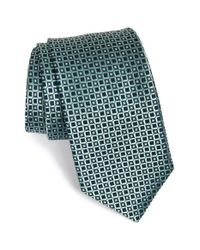 Michael Kors - Green Grid Silk Tie for Men - Lyst