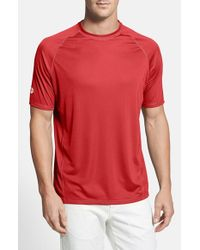 Tommy Bahama | Red 'sun Chaser' Island Modern Fit Moisture Wicking T-shirt for Men | Lyst