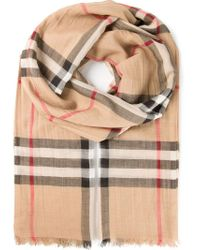 Burberry - Multicolor Checked Scarf - Lyst