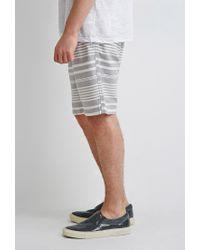 Forever 21 | Gray Mixed Stripe Shorts for Men | Lyst