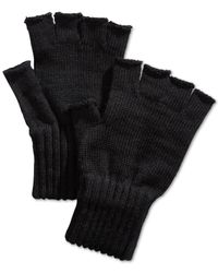 Barbour | Black Wool Fingerless Gloves for Men | Lyst