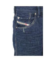DIESEL Blue Mens Bravefort Relaxed 880k Wash Jeans for men
