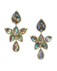 Elizabeth Showers | Multicolor Mariposa Quartz  Abalone Doublet Earrings | Lyst