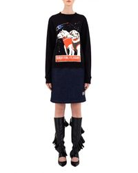 J.W.Anderson Black Space Dogs Sweat Top