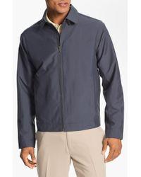 Cutter & Buck - Blue 'weathertec Mason' Wind & Water Resistant Jacket for Men - Lyst