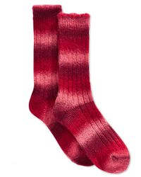 Hue | Red Women's Ombre Boot Socks | Lyst