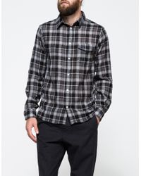 Norse Projects | Gray Anton Plaid Worsted Wool Gauze Shirt for Men | Lyst