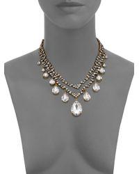 Erickson Beamon - Metallic Temptress Crystal Double-row Teardrop Necklace - Lyst