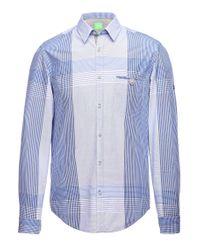 BOSS Green Blue 'bariko' | Regular Fit, Cotton Plaid Button Down Shirt for men