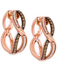 Le Vian | Pink Chocolatier® Diamond Hoop Earrings (3/8 Ct. T.w.) In 14k Rose Gold | Lyst