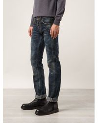 PRPS Noir Blue Distressed Jeans for men