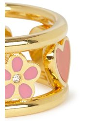Marc By Marc Jacobs - Pink Happy House Gold Tone Ring - Lyst