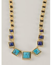 Eddie Borgo | Blue Graduated Gemstone Pyramid Necklace | Lyst