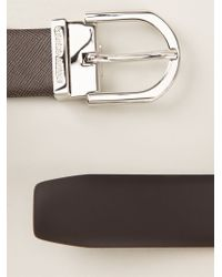 Giorgio Armani | Brown Classic Belt | Lyst