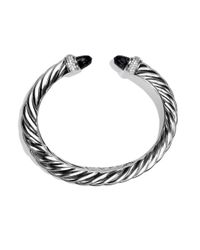 David Yurman | Metallic Waverly Bracelet With Black Onyx And Diamonds | Lyst