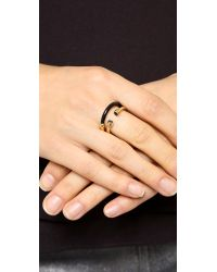 Marc By Marc Jacobs - Metallic Hula Hoop Ring Set Black - Lyst