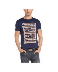 BOSS Orange Blue T-shirt: 'taiwo 3' With A Round Neckline for men