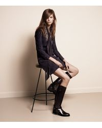Tory Burch | Black Derby Leather Riding Boots | Lyst