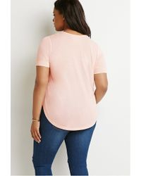 Forever 21 - Pink Classic Tee - Lyst