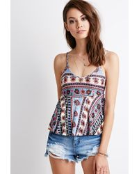 Forever 21 | Natural Floral Print Babydoll Cami | Lyst