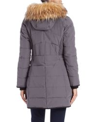 Guess | Gray Faux Fur-trimmed Parka | Lyst