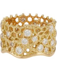Aurelie Bidermann - Metallic Dentelle Ring - Lyst