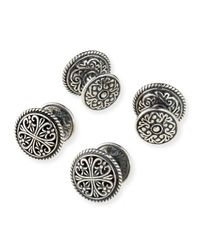 Konstantino | Metallic Classic Etched Silver Shirt Stud Set for Men | Lyst