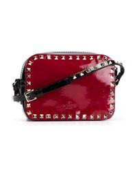 Valentino - Black 'rockstud' Crossbody Bag - Lyst