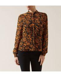 Hobbs - Orange Honeysuckle Shirt - Lyst