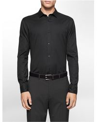 Calvin Klein | Black Classic Fit Cool Tech Oxford Shirt for Men | Lyst
