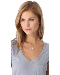 Helen Ficalora - Metallic E Charm - Lyst
