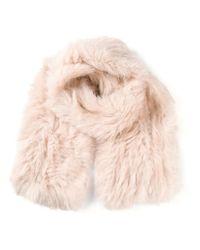 Meteo by Yves Salomon - Pink Rabbit Fur Scarf - Lyst