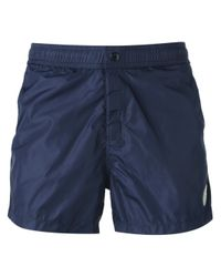 Moncler Blue Classic Swim Shorts for men