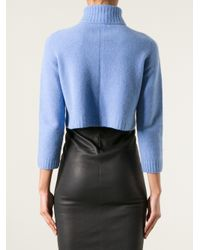 The Row Blue Nenette Cropped Sweater