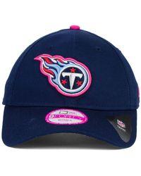 KTZ - Blue Women's Tennessee Titans Bca 9forty Cap for Men - Lyst