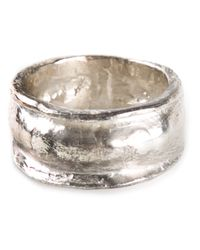 1-100 | Metallic Textured Ring | Lyst