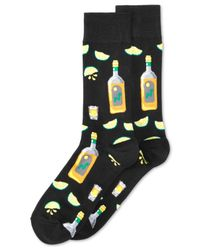 Hot Sox | Black Tequila And Lime Crew Socks for Men | Lyst