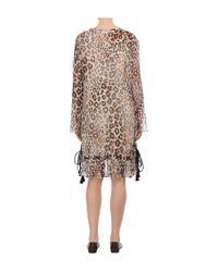 Chloé - Brown Leopard Gauze Dress - Lyst