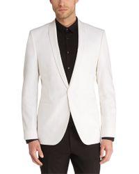 HUGO White Regular-fit Jacket In New-wool Blend: 'arido' for men