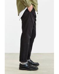 Obey | Black Slub Twill Elastic Waist Pant for Men | Lyst