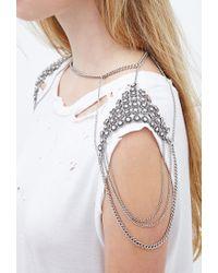 Forever 21 - Metallic Rhinestone Shoulder Chain - Lyst