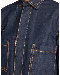 DSquared² - Blue Denim Coat - Lyst